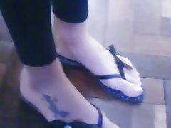 Great foot great tatoo close up
