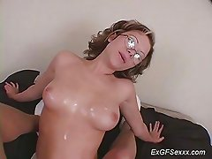 My ex girlfriend does me a handjob and i give her sperm on t