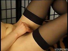 Quiet German girl masturbates