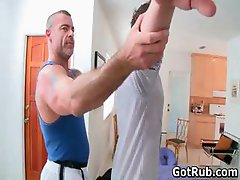 Tattooed hunk gets his smooth ass rimmed part2
