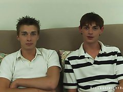 Two dirty twinks talking about their first gay sex