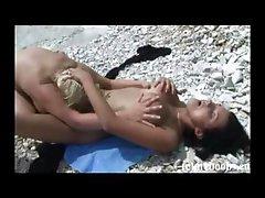 Polish Busty Lesbians on beach