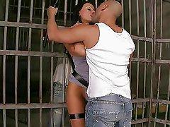 Aletta Ocean fucking two guys in prison