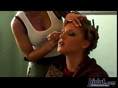 We go behind the scenes and catch Lauren Phoenix as she getting