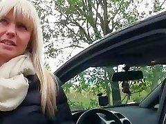 Inoocent Czech girl backseat banging