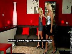 Alison and Celine lesbo girls fingering