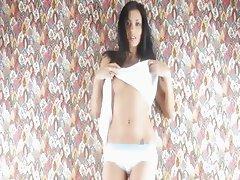 Amazingly skinny body teasing