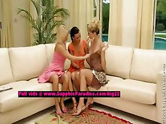 Debby and Aneta and Jenny lesbo dolls undressing