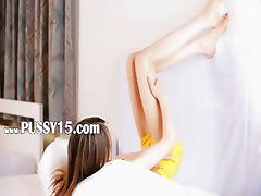 Posing and teasing ultracute girl
