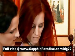 Faith and Waleria brunette lesbos licking and fingering pussy