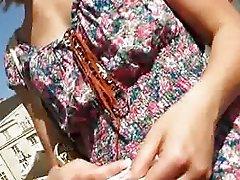 Innocent Czech girl railed in the market