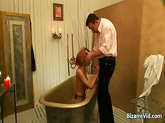 Super hot blond bitch gets butt spanked part1