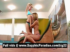 Nikitta and Beatrice blonde lesbians licking pussy and having lesbian love