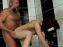 Grandpa fucking and pissing on pretty girl