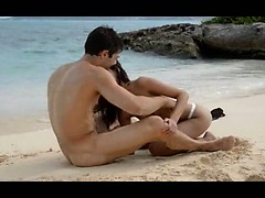 Extremely fine lovers sex on the beach