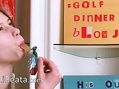 Busty babysitter masturbating hard