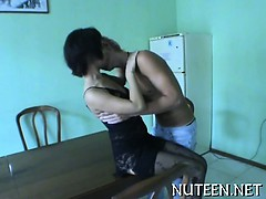 Hot beauties strip their boyfriend