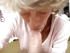 Wife granny gives delicious sucks to husband