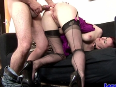 Euro glamour mature doggystyle drilled