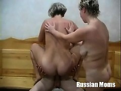 Valia and Irina int the sauna