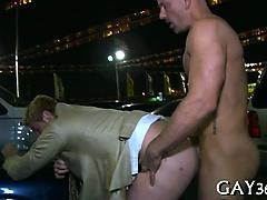 Wonderful gay butt slam
