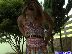 Tranny tgirl enjoys cock in her ass