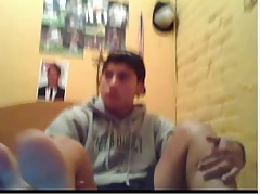 Straight guys feet on webcam #27