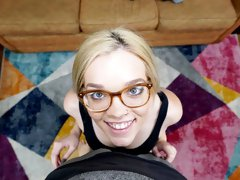 The hottest nerdy teen Katie Kush cheats on her boyfriend