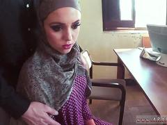 Gorgeous Arab teen whore is ready to test a large dick