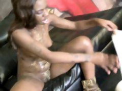 Jalisa mouth stretched by white cock