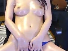 korean camgirl oiled show
