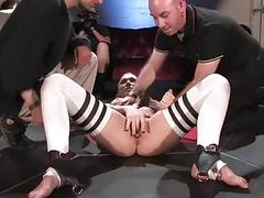 Stunning wench is humiliated sexually in public
