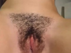 Teen fingers hairy pussy