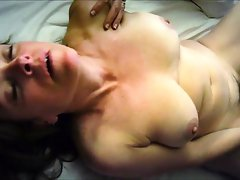 Cougar pleasing her horny pussy with a toy
