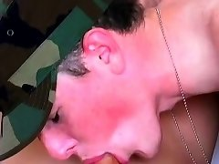 Pretty young gay man sucks another twink's dick deep