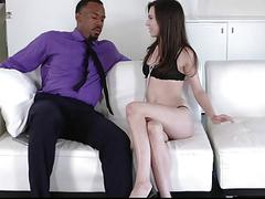 TLBC  Brunette Teen Fucks Boss For Raise