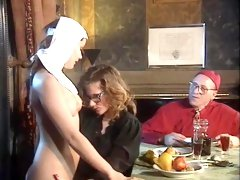 Retro priest fucks vintage sluts and sinful nuns love hardcore sex with soldiers