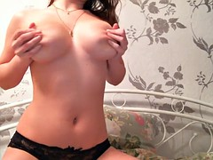 extremely hot boobs bounce getting off in bed
