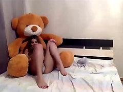 Teenie Duo And Humungous Bear Hairy Man