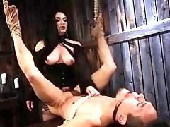 Sexy mistress Lea Lexis plays with new boy toy BDSM