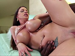 brooklyn chase takes huge black dick that stretches her twat