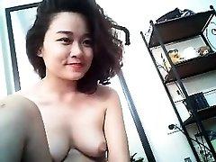 Asian fingering beautiful dancing webcam