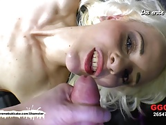 Skinny Ashley Cox is back for more cocks - German Goo Girls