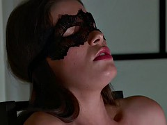 sindy black given vaginal toy workout