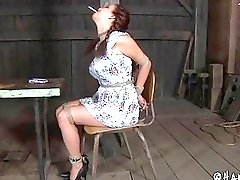 Naughty redhead loves having some humiliation and bondage from her master