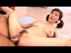 Big breasted Oriental wife spreads her legs for a stiff rod