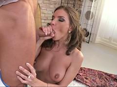 alina henessy deepthroats the hard cock and licks balls