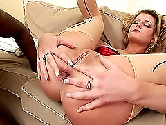 Fat black cock stretches the asshole of a dirty milf