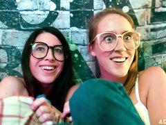 Three dolls Serena Blair, Cadence Lux and Kenzie Taylor enjoy lesbian sex