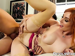 Ginger-Haired COUGAR cuckolds spouse with marriage counselor